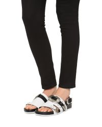 Toga Pulla - White Buckle Footbed Sandals - Lyst