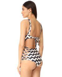 Tori Praver Swimwear Black Zilos Sayulita Swimsuit