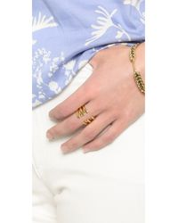 Tory Burch - Metallic Wrapped Crescent Ring - Lyst