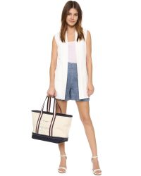 Tory Burch - Natural Bombe T Canvas Small Tote - Lyst