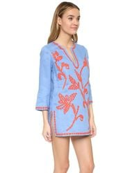 Tory Burch - Red Talisay Tunic - Lyst