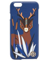 Tory Burch Blue Deer Applique Leather Iphone 6 / 6s Case