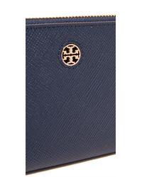 Tory Burch - Blue Perry Zip Passport Continental Wallet - Lyst