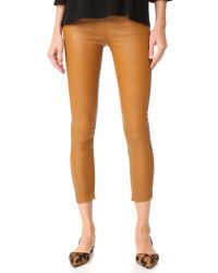 ThePerfext | Black Brittany Cropped Leather Pants | Lyst