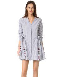 Tanya Taylor | White Menswear Striped Mirabelle Dress | Lyst