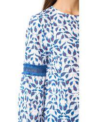 Tanya Taylor - Blue Leaf Ikat Plaid Martine Top - Lyst
