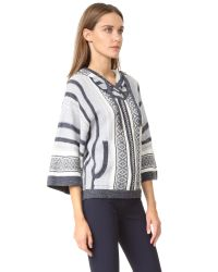 Veronica Beard | Green Rancho Hooded Sweater | Lyst