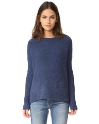 Vince   Blue Oversized Crew Sweater   Lyst