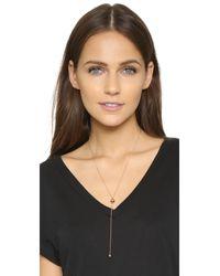 Vita Fede - Metallic Lariat Metal Ball Necklace - Lyst