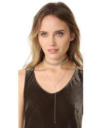 Vanessa Mooney - Black The Teresa Choker Necklace - Lyst