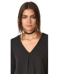 Vanessa Mooney - Black The Beverly Choker Necklace - Lyst