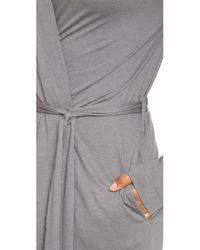 Yummie By Heather Thomson - Gray Short Robe - Lyst