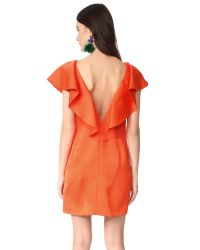 Zac Posen Orange Zac Dottie Dress