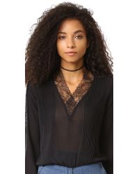 Jennifer Zeuner - Black Lottie Choker Necklace - Lyst