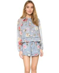 Zimmermann - Multicolor Havoc Floating Layer Romper - Lyst