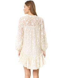 Zimmermann - White Master Embroidered Dress - Lyst
