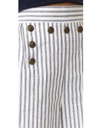 Zimmermann Multicolor Zephyr Striped Cotton And Linen-blend Shorts