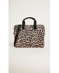 Kate Spade Black Leopard Laptop Commuter Bag