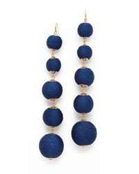 Shashi - Blue Lydia Ball Earrings - Lyst