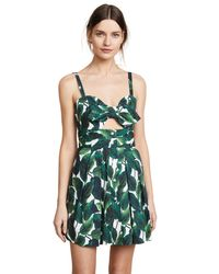 MILLY Green Banana Leaf Jordan Mini Dress