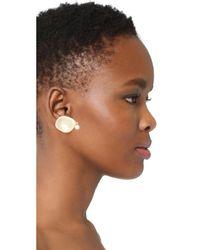 Elizabeth and James - Metallic Plumeria Earrings - Lyst