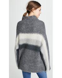 Rag & Bone Gray Holland Funnel Neck Sweater