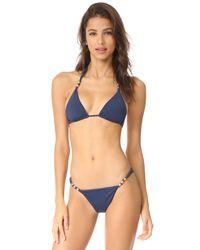 ViX   Blue Midnight Paula Bikini Top   Lyst
