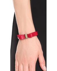 Ferragamo Red Vara Bow Single Wrap Bracelet