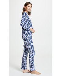 Roberta Roller Rabbit Blue Bearry Holidays Pajamas