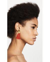 Madewell - Multicolor Curved Tassel Earrings - Lyst