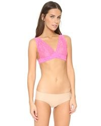 Honeydew Intimates Pink Camellia Lace Bralette