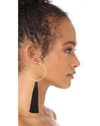 Gorjana - Black Leucadia Tassel Hoop Earrings - Lyst