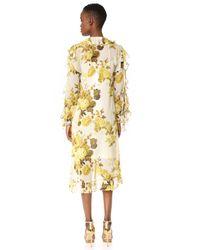 Robert Rodriguez - Yellow High Low Hem Ruffle Dress - Lyst