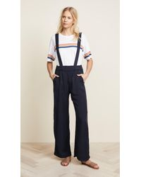 Sol Angeles Blue Overall Pants