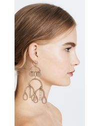 Shashi | Metallic Alicia Large Earrings | Lyst