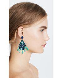 Rebecca Minkoff - Blue Cha Cha Statement Earrings - Lyst