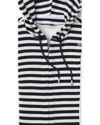 Veronica Beard - Blue Striped Hoodie Dickey - Lyst