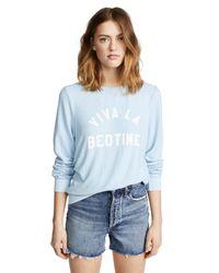 Wildfox - Blue Viva La Bedtime Sweatshirt - Lyst