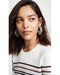 Rebecca Minkoff Metallic Glitter Resin Hoop Earrings