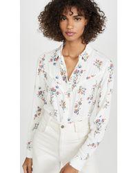 Wrangler White Flower Shirt