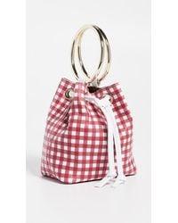 Maison Boinet Red Small Gingham Bucket Bag
