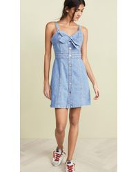 7 For All Mankind Blue Double Tie Dress
