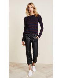 Bella Freud Blue Deep Disco Stripe Sweater