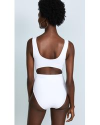 Beth Richards White Knot One Piece
