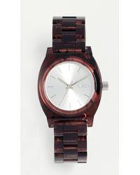 Nixon - Red Medium Time Teller Watch, 35mm - Lyst