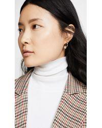 Shashi Metallic Classique Hoop Earrings