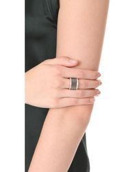 Walters Faith - Metallic Clive Wide Diamond Fluted Band Ring - Lyst