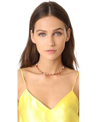 Tory Burch - Multicolor Geo Striped Collar Necklace - Lyst