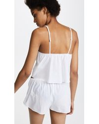 Les Girls, Les Boys White Woven Cotton Camisole