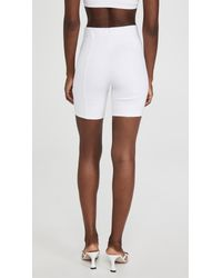 NINETY PERCENT White Structured Cycling Shorts